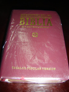 Burgundy Cover Tagalog Bible with Deuterocanonical Books / Magandang Balita Biblia / Tagalog Popular Version TPV