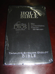 Tagalog - English New Testament BLACK GRAY Cover, Silver Edges, Flex, Slim
