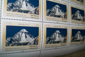Himalaya Postage Stamp Collector's Block - Golden Jubilee Year of the First Ascent of Mt. Dhaulagiri