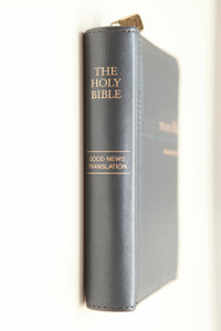 Good News Bible Luxury Edition / Blue Leather Bound with Zipper, Gold Edges