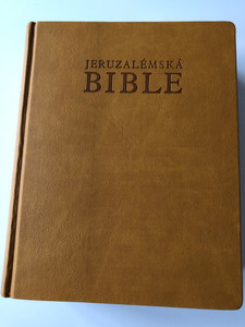 The Jerusalem Bible in Czech Language / Jeruzalémská Bible Písmo Svaté Vydané Jeruzalémskou Biblickou Školou / Leather Bound with golden edges, thumb index / Contains Deuterocanonical books (9788071953890)