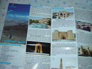 Tourist Map of Tajikistan Scale 1:850,000 / Map by Tajikistan Tourism Affairs
