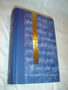 German Bible / Blue and Gold / Die Bibel nach Martin Luther / Special Anhang Section with a lot of useful study information