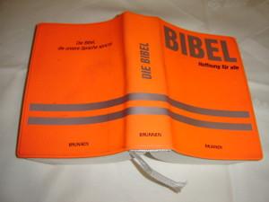 Die Bibel - German Bible Orange Vinyl Bound, Pocket Size Brunnen / Printed in Germany / Flex Edition Senfkorn 2003