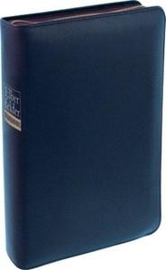 The German Hebrew - Greek Key Study Bible Blue Leather Bound with Zipper / Elberfelder Studienbibel: Mit Sprachschlüssel und Handkonkordanz