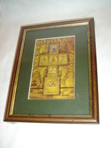 A Szent Korona Zomanckepei Belyeg Blokk, Keretben / The Hungarian Holy Crown Stamp Block in frame / Magyar Posta Magyarorszag 2005