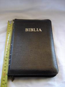 Romanian Bible with Zipper and Thumb Index / Biblia sau Sfanta Scriptura Cu Trimiteri / Cuvinte Domnului in rosu