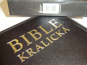 Kralicka Czech Bible Black Leather Cover with Golden Edges in Protective Box / Bible Kralicka