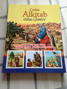 Indonesian Language Children's Bible / Comic Strip Christian Book with Full Color Pictures