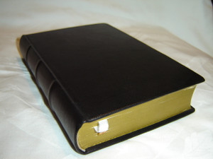 Czech Black Genuine Leather Bound Bible with Golden Edges / Bible Preklad 21. stoleti
