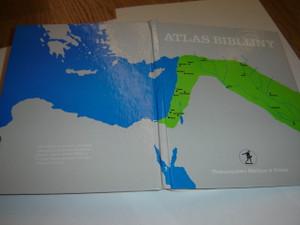 Polish Bible Atlas / Atlas Biblijny / Towarzystwo Biblijne w Polsce / Atlas biblijny to obszerny zbior map, odnoszacych sie do wszstkich miejse, zdarzen i czasow historii biblijnej