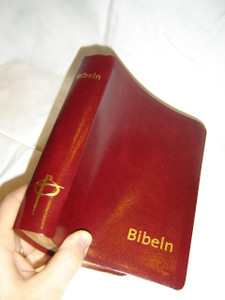 Swedish Bible Burgundy Leather Bound with Golden Edges / Bibeln Rod Cabra, Mjukband, Guldsnitt / Bibel 2000