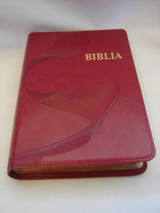 New Ewe Bible / Biblia / Beautiful Red Leather Bound with Golden Edges / Words of Christ in Red