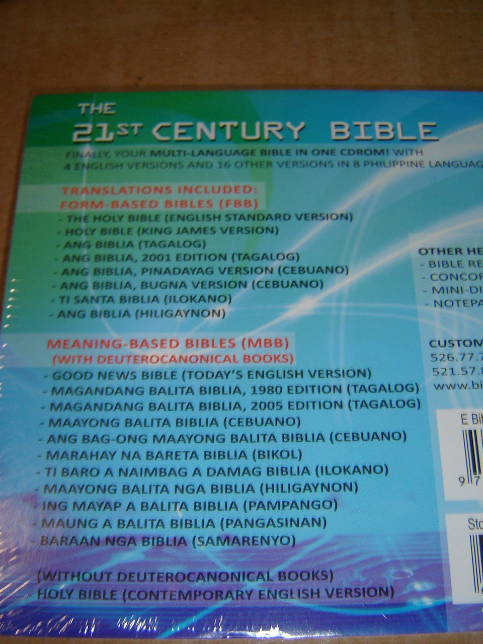Electronic Filipino Bible on CDROM / 4 English Versions and 16 Other  Versions in 8 Philippine Languages / Concordance, Mini Dictionary, Bible  Reading