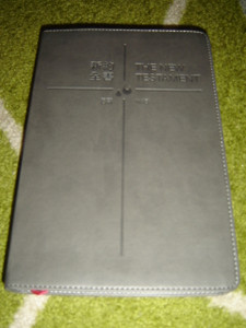 Chinese - English Catholic Study New Testament / Gray Imitation Leather Binding / Studium Biblicum O.F.M.