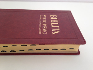 Biblija Sveto Pismo - Croatian Catholic Bible / Staroga I Novoga Zavjeta / Brown Leather Bound, Golden Edges with Thumb Index