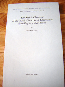 The Jewish Christians of the Early Centuries of Christianity According to a New Source.