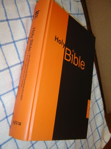 Thai - English Bible Bilingual Diglot / Orange Black Cover Large Size / TNCV-NIV