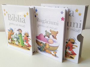 Romanian Bible and Prayers for Little Ones / Biblia si Rugaciuni pentru cei micuti / Comes in a Protective box