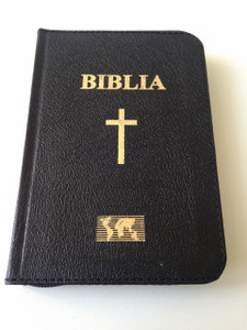 Black Romanian Pocket Size Bible with Zipper / Cornilescu Version / Biblia sau Sfanta Scriptura