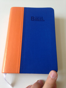 German New Luther Bible / NeueLuther Bibel: Luther 2009 / Duo-Tone Orange-Blue Cover with Thumb Index