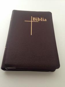 Romanian Thompson Chain Student Bible - Biblia Sau Sfanta Scriptura Cornilescu Editie de studiu Thompson / Burgundy Leather-bound with Golden Edges, Thumb Index and Zipper