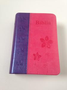 Romanian Pocket Size Bible / Pink-Purple Duo-Tone Cover / Dumitru Cornilescu Version / Biblia de buzunar portocaliu-albastru