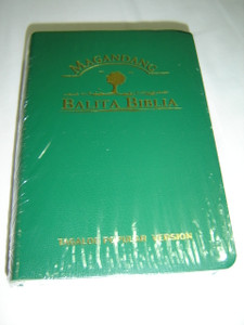 Tagalog Language Bible - Magandang Balita Biblia (Popular Version ) Green Leather Bound with Thumb Index and Golden Edges