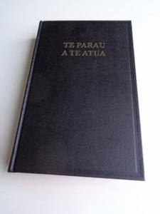 Tahitian Bible 053 / TE PARAU A TE ATUA / Te Bibilia Mo'a Ra, Oia Te Faufaa Tahito E Te Faufaa Api Ra / Red Edges / Black Hardcover / Column References