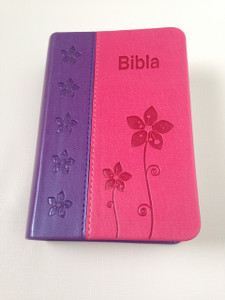 Bibla - Albanian Pocket Size Bible / Purple - Pink Leather Bound Edition for Ladies