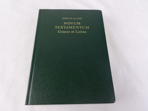 Greek - Latin Bilingual New Testament - Green Leather Bound