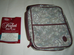 The Perfect Ladies Bible Case LARGE Size / D/Rose Tapestry PT 11DR / Fits Bibles 7'' X 9.5'' X 1'' 3/4