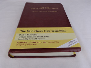 UBS Greek New Testament Reader's Edition With Textual Notes (Greek Edition)