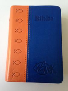 Romanian Pocket Size Bible / Orange-Blue Duo-Tone Cover / Dumitru Cornilescu Version / Biblia de buzunar portocaliu-albastru