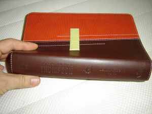 Orange Brown Spanish Thompson Chain Study Bible / Biblia De Referencia Thompson Con Versiculos En Cadena Tematico / Version Reina-Valera 1960 /