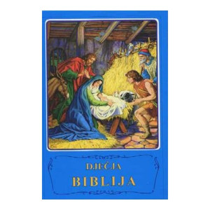Croatian Children's Bible / Djecja Biblija / Blue Hardcover - Rare Bible