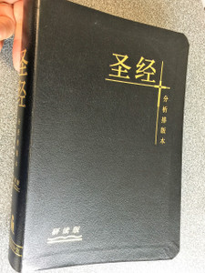 Chinese Analytical Layout Bible Study Edition / Black Leather Bound with Golden Edges CALSB01S  圣经 分析排版本 : 研读版