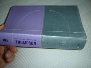 Purple Gray Spanish Thompson Chain Study Bible / Biblia De Referencia Thompson Con Versiculos En Cadena Tematico