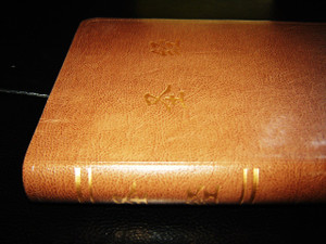 Standard Size Brown Leather Chinese Bible, CUV  ‰ÛÒ Golden Edges & Thumb Index