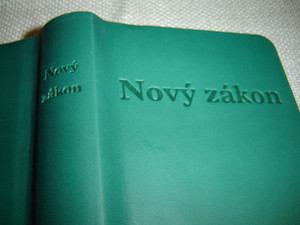 Slovak New Testament, Deep Green Vinyl - Jerusalem Bible, 1st Edition