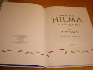 Hilma far ett eget djur - Swedish Language Children's Book / Colored Pages - 2010 Print