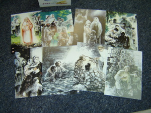 Pilgrim's Progress 19 Postcard Collection Set / John Bunyan's Pilgrim's Progress Beautifully Illustrated on Post Cards