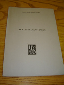 New Testament Index - Helps for Translators / UBS Handbook Series, Guides, Technical Helps