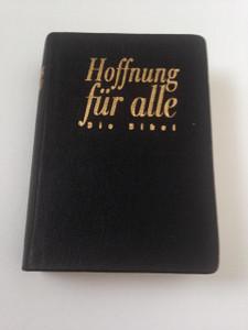 Hoffnung Für Alle: Die Bibel / Black Leather German Pocket Bible HFA with Golden Edges / Printed in Germany 2003
