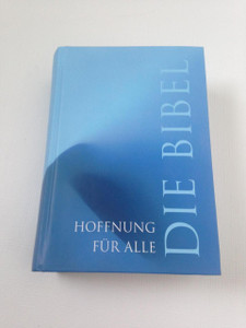 Hoffnung Für Alle: Die Bibel / Blue Hardback German Pocket Bible HFA / Printed in Germany 2005