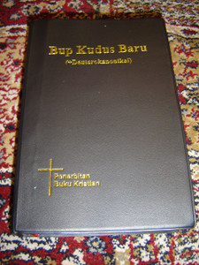 Iban Language Bible with Deuterocanonical Books: New Today's Iban Version / Bup Kudus Baru (+Deuterokanonikal) / 062P Black Plastic Cover with Gold Letters, Thumb Index, Ribbon Marker