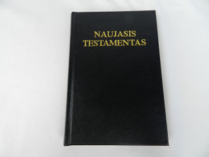 Lithuanian Language New Testament, Catholic Edition – Black Hardcover / Naujasis Testamentas / 1993 Print