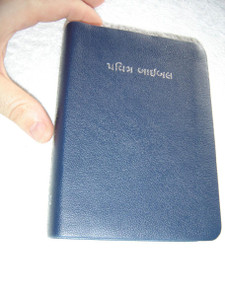 Gujarati Language Holy Bible O.V. with Cross-Reference, Compact Edition / D10GUJA011 Blue Vinyl Bound with Silver Edges