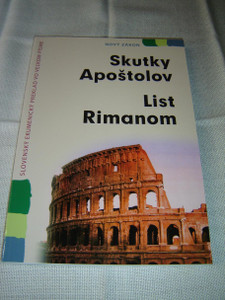 Slovak Language Books of Acts & Romans, Large Text – Great for Elderly Readers