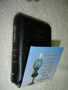 The Holy Bible: Hindi BSI Version O. V. Pocket Pearl VL / Black Leather with Zipper Compact Bible